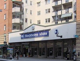 Stockholm South Station - Image: Stockholms Södra ingång