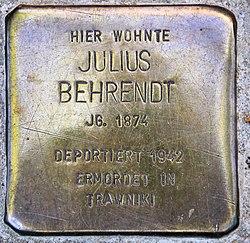 Photo of Julius Behrendt brass plaque