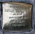 Stolperstein Oranienburger Str 22 (Mitte) Hannah Karminski.jpg