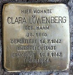 Photo of Clara Löwenberg brass plaque