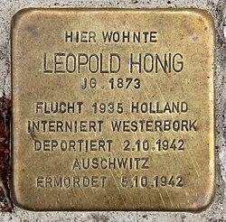Stolperstein witzlebenplatz 5 (charl) leopold honig