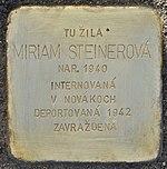 Stolperstein für Miriam Steinerova (Prievidza).jpg