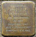 Stumbling block for Anneliese Feidelberg (Humboldtstr. 42)