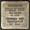 Stolpersteine Köln, Rosalie Sass (Elsaßstraße 59).jpg