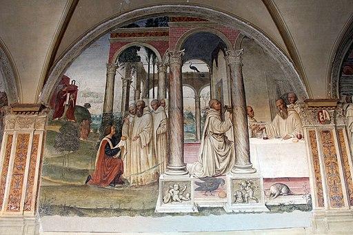 Storie di San Benedetto, Come Florenzo tenta di avvelenare Benedetto