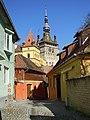 Strada medievala - Sighisoara (judetul Mures).jpg
