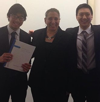 New York University Stern School of Business - Students in the BS/MS Program Celebrate after a Presentation