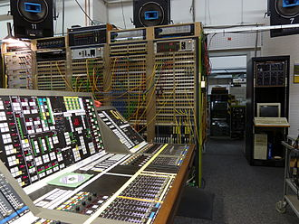 Studio for Electronic Music (WDR) - Lawo PTR mixing console, obtained for the studio in the early 1990s, now in the Ossendorf museum maintained by Volker Müller