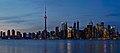 Sunset Toronto Skyline Panorama Crop from Snake Island.jpg