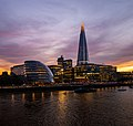 Sunset on The Shard & City Hall across Thames river in London.jpg