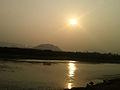 Sunset on river Sarada near Anakaplli Visakhapatnam.jpg