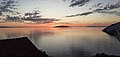 Sunset view on island of Hvar from Podaca in Croatia.jpg