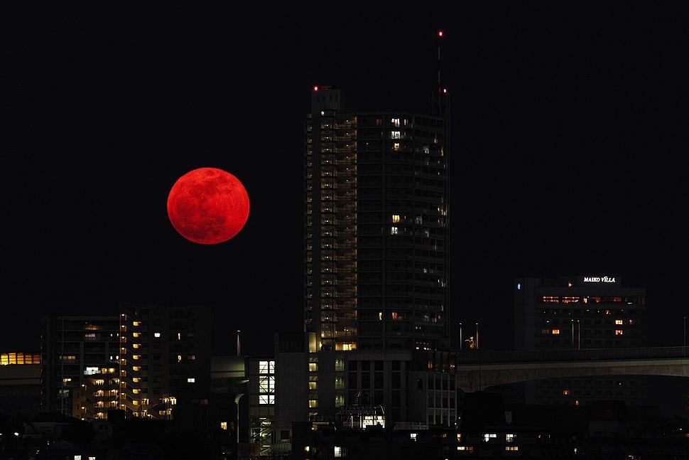 Super Moon rising above the bridge - Japan - 6 May 2012.jpg