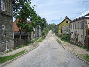 Supilinn - Marja street in Supilinn.