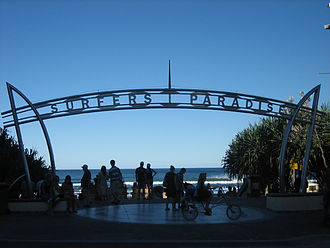 Surfers Paradise, Queensland - Main entrance to the beach