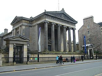 "Edinburgh - Surgeons' Hall - one of the Greek Revival buildings that earned Edinburgh the nickname ""Athens of the North"""