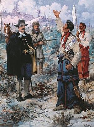 "Edgar Samuel Paxson - ""Surrender of Chief Joseph"", Montana Capitol"