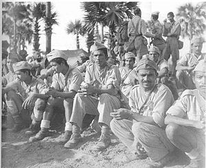 Indian National Army - Troops of the Indian National Army who surrendered at Mount Popa. Circa April 1945.