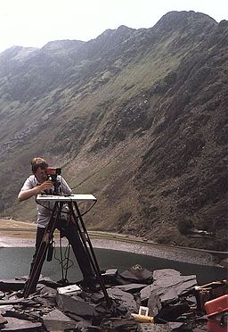 Surveyor Mapping Mountain Topography - geograph.org.uk - 104759