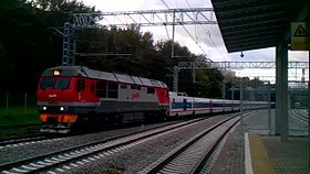 Файл:TEP70BS - Talgo-250 and ES2G, Krymskaya.webm
