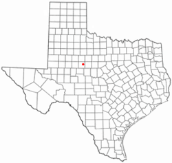 Location of Loraine, Texas