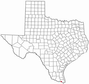 Los Indios, Texas - Image: TX Map doton Los Indios