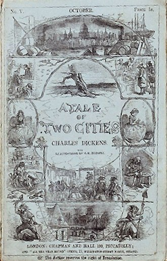 A Tale of Two Cities - Cover of serial Vol. V, 1859
