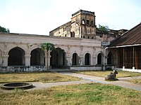 A historic palace with pillared structure