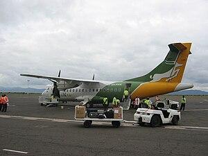 Precision Air - A Precision Air ATR 42-300 at Kilimanjaro International Airport in 2006