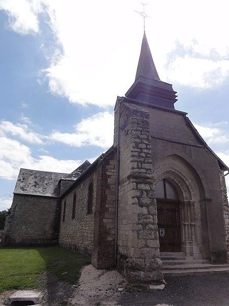 Tavaux-et-Pontséricourt (Aisne) église de Pontséricourt