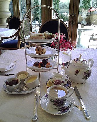 English cuisine -  Afternoon tea in traditional English style at the Rittenhouse Hotel, Philadelphia