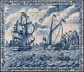 """Tegeltableau met het vertrek in 1688 van prins Willem III uit Rotterdam naar Engeland aan boord van de """"Den Briel"""".jpg"""