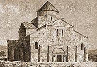 Tekor Basilica in an 1840s engraving.jpg