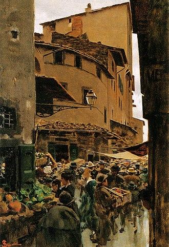 Arte di Calimala - Via Calimala painted by Telemaco Signorini, 1889