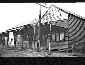 Tempy, Victoria - Front of the H.V. McKay Agency, at Tempy in March 1940