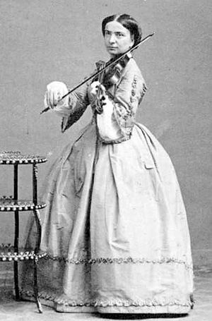 Milanollo - Violinist and composer Teresa Milanollo in 1862