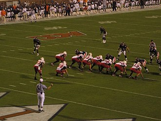 2008 Maryland Terrapins football team - Maryland lines up in an I-formation against Virginia.