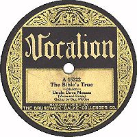 The Bible's True, ca. 1928