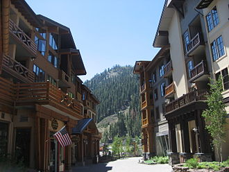 Squaw Valley Ski Resort - Image: The Villageat Squaw Valley exterior