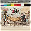 The - high - Flying Candidate, (i.e. Little Paul-Goose, ) mounting from a Blanket (caricature) (Hood) RMG PX8566.jpg
