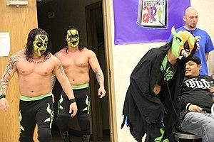 Chikara You Only Live Twice - (Left to right) Kodama, Obariyon and Kobald of The Batiri