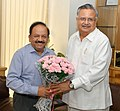 The Chief Minister of Chhattisgarh, Dr. Raman Singh calling on the Union Minister for Health and Family Welfare, Dr. Harsh Vardhan, in New Delhi on July 15, 2014.jpg