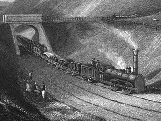 Newcastle & Carlisle Railway - An early train on the Newcastle and Carlisle Railway