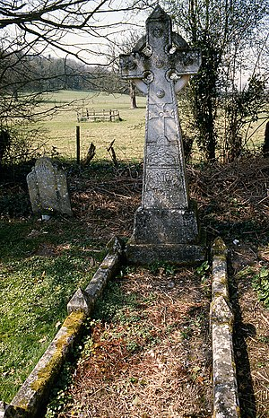 William Barnes - His memorial and grave at St Peter's Church, Winterborne Came