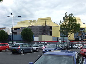 The Hive, Worcester - The Hive during construction in June 2011