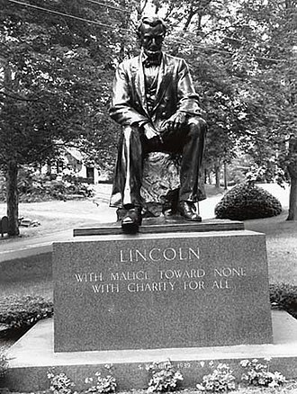 Lincoln Monument of Wabash, Indiana - Image: The Lincoln Monument of Hingham, MA by Charles Keck. Photo from the SIRIS web page