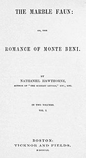 <i>The Marble Faun</i> 1860 novel by Nathaniel Hawthorne