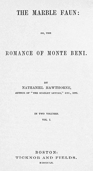 The Marble Faun - First edition title page