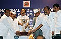 The Minister of State (Independent Charge) for Consumer Affairs, Food and Public Distribution, Professor K.V. Thomas presenting the Efficiency Award.jpg