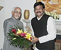 The Minister of State (Independent Charge) for Tourism, Dr. K. Chiranjeevi calls on the Vice President, Shri Mohd. Hamid Ansari, in New Delhi on November 19, 2012.jpg